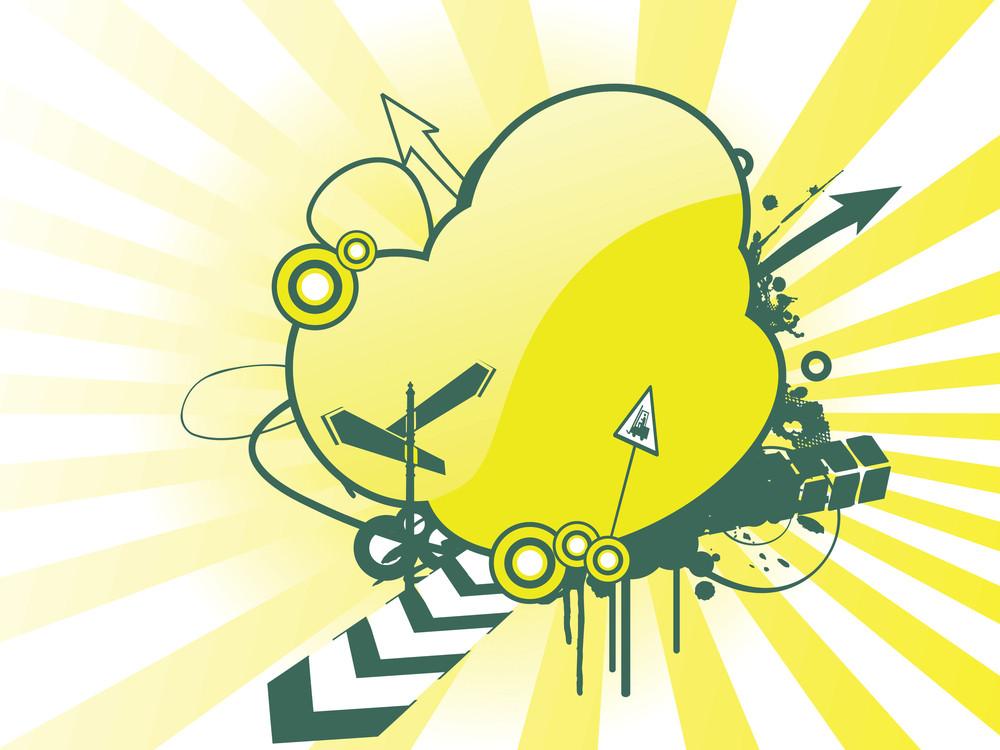 Vector Illustration On Cloud Design