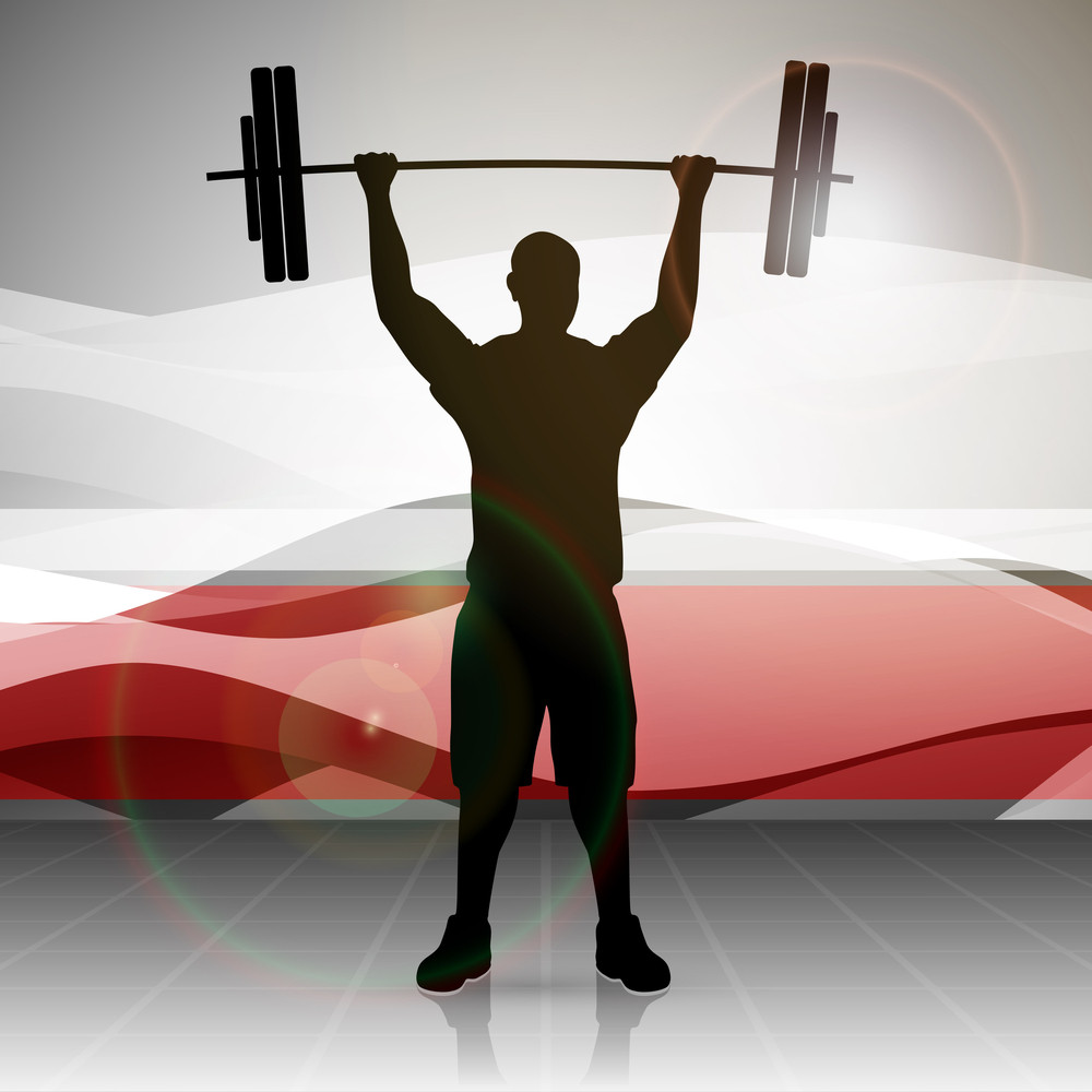 Vector Illustration Weight Lifter