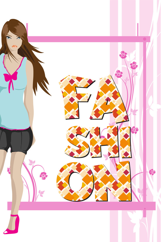 Vector Illustration With  And People (editable Text)