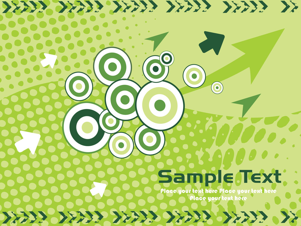 Vector Illustration With Arrows Background