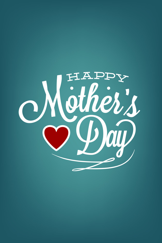 Vector Illustration With Best Mom And  (editable Text)