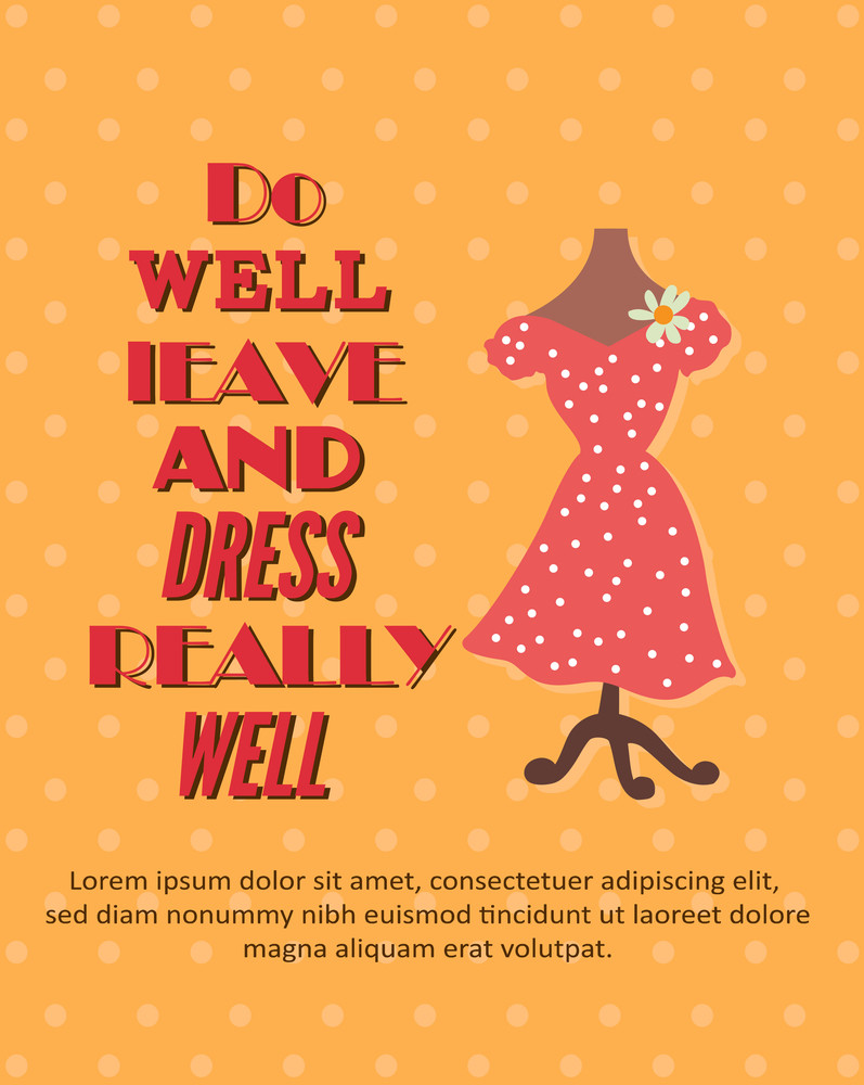 Vector Illustration With Dress (editable Text)