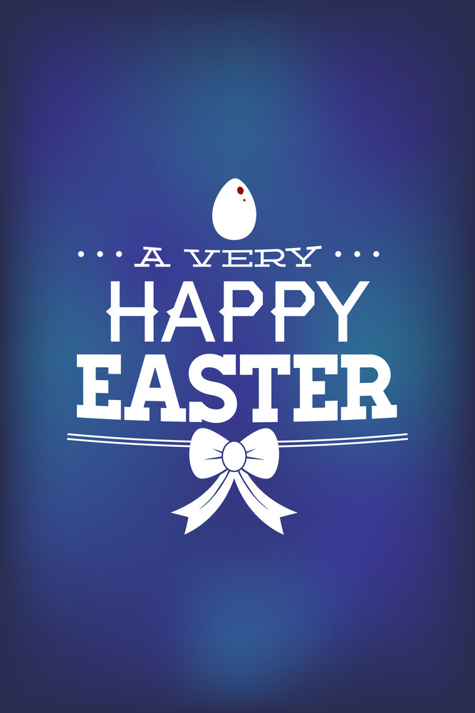 Vector Illustration With Egg Easter And  (editable Text)