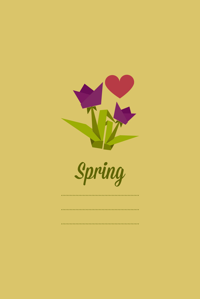 Vector Illustration With Flowers And  (editable Text)