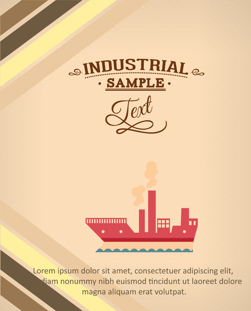 Vector Illustration With Industrial Element (editable Text)