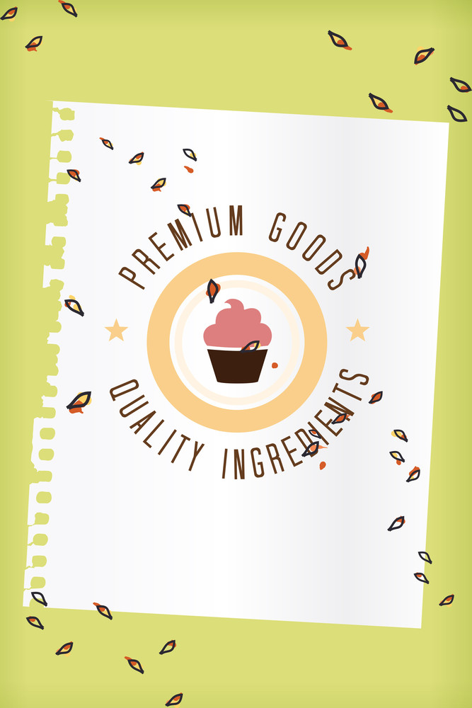 Vector Illustration With Label And Decorations (editable Text)