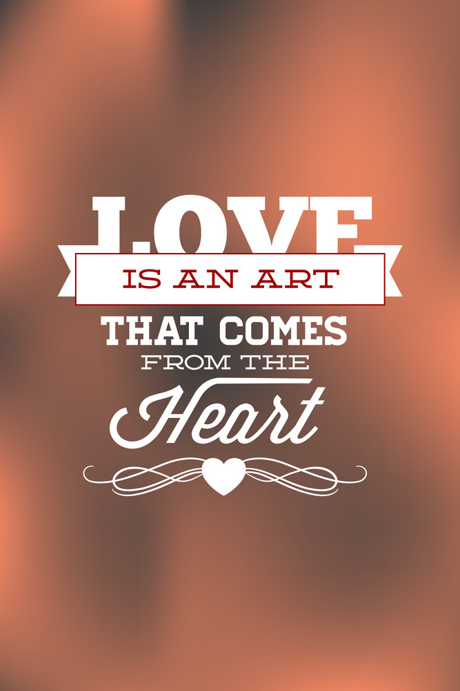 Vector Illustration With Love And  (editable Text)