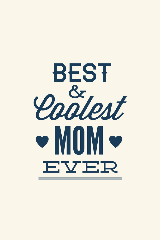 Vector Illustration With Mom And  (editable Text)