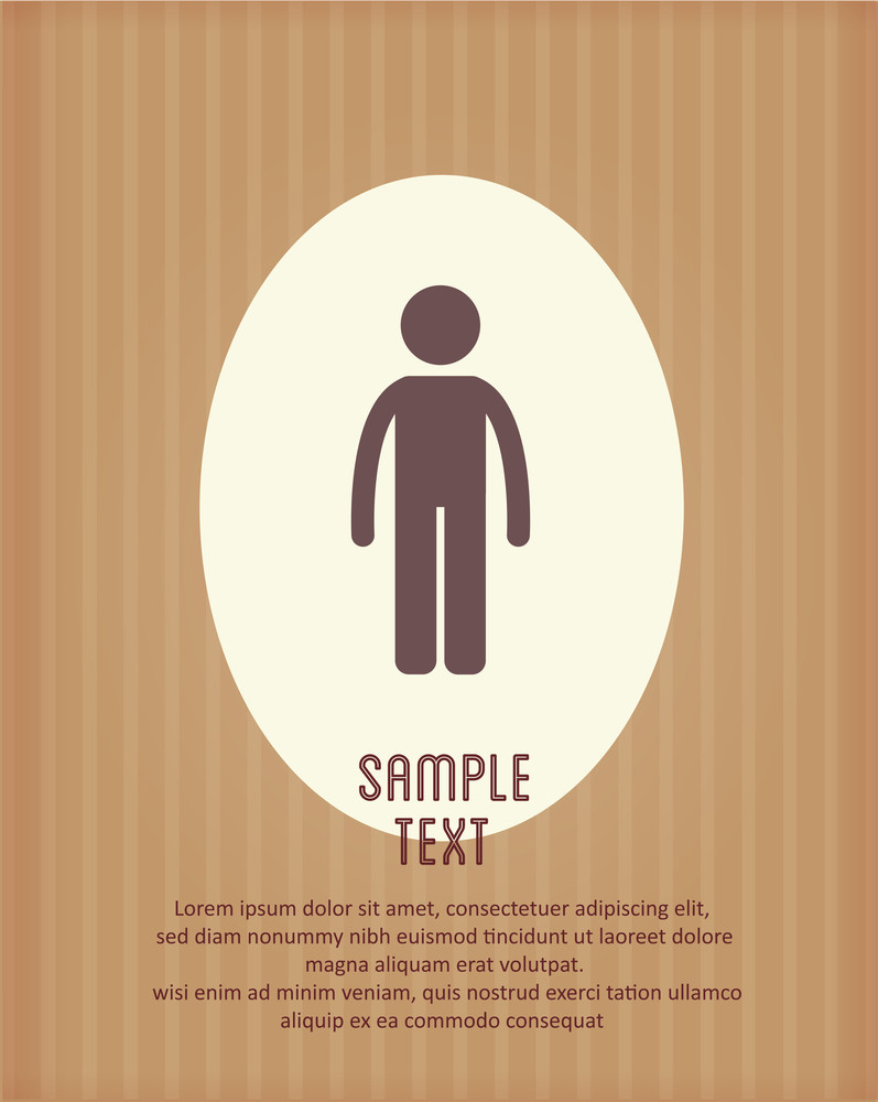 Vector Illustration With People Icon (editable Text)
