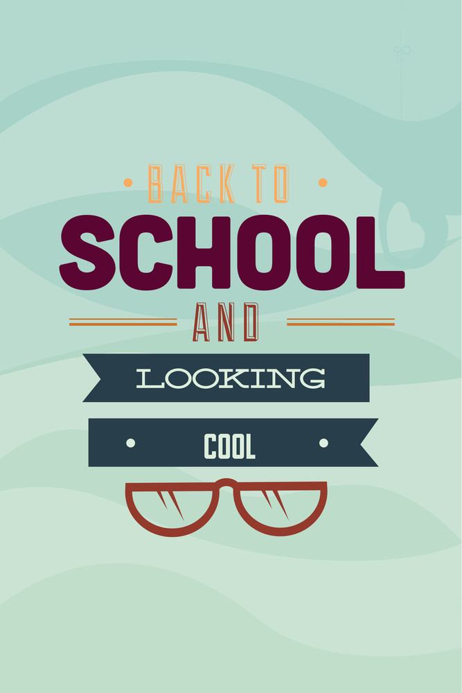 Vector Illustration With School And People (editable Text)