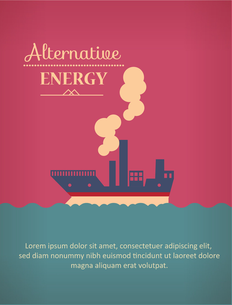 Vector Illustration With  Ship (editable Text)