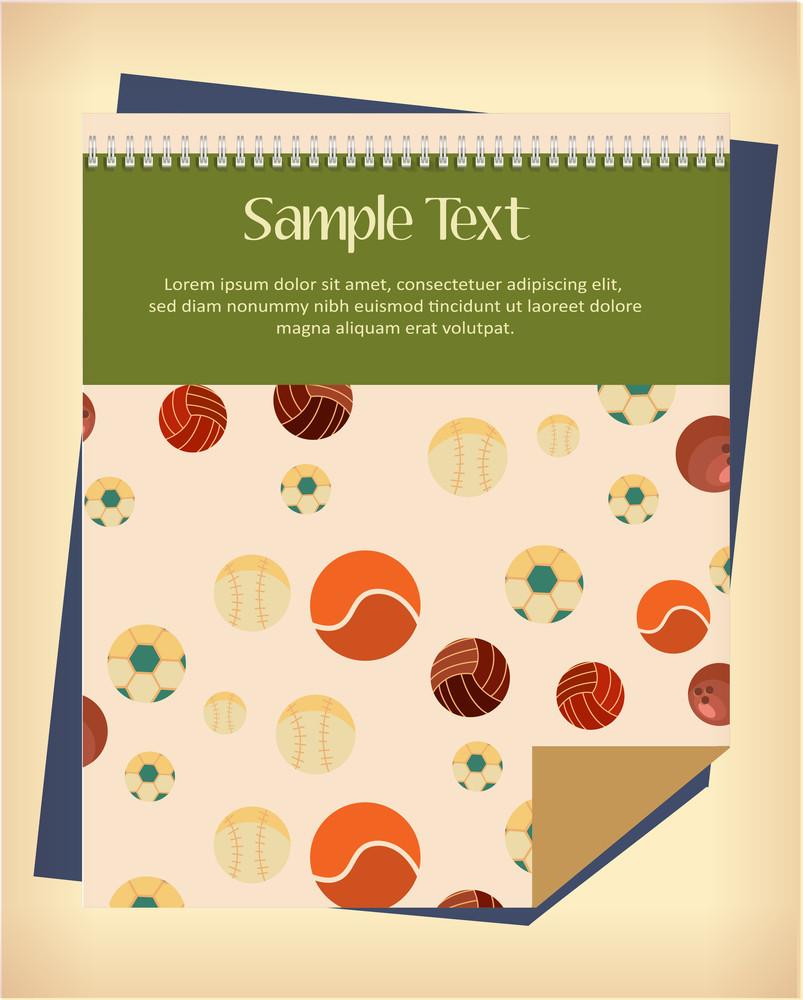 Vector Illustration  With Sport Calendar (editable Text)