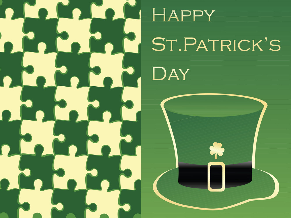 Vector Illustration With St. Patrick's Hat 17 March