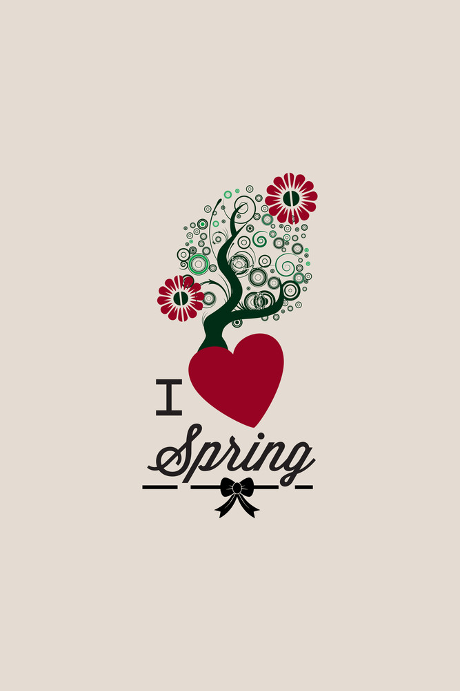 Vector Illustration With Tree And  (editable Text)