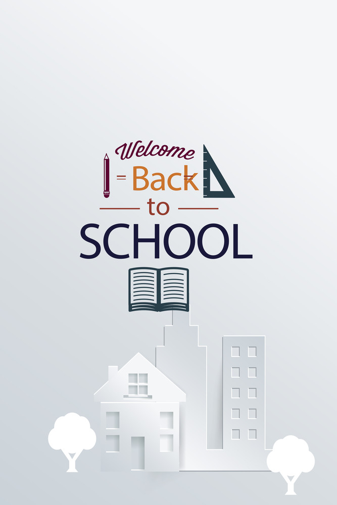 Vector Illustration With Typography And Building Elements (editable Text)