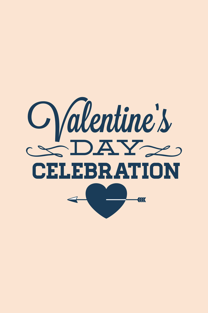 Vector Illustration With Valentine And  (editable Text)