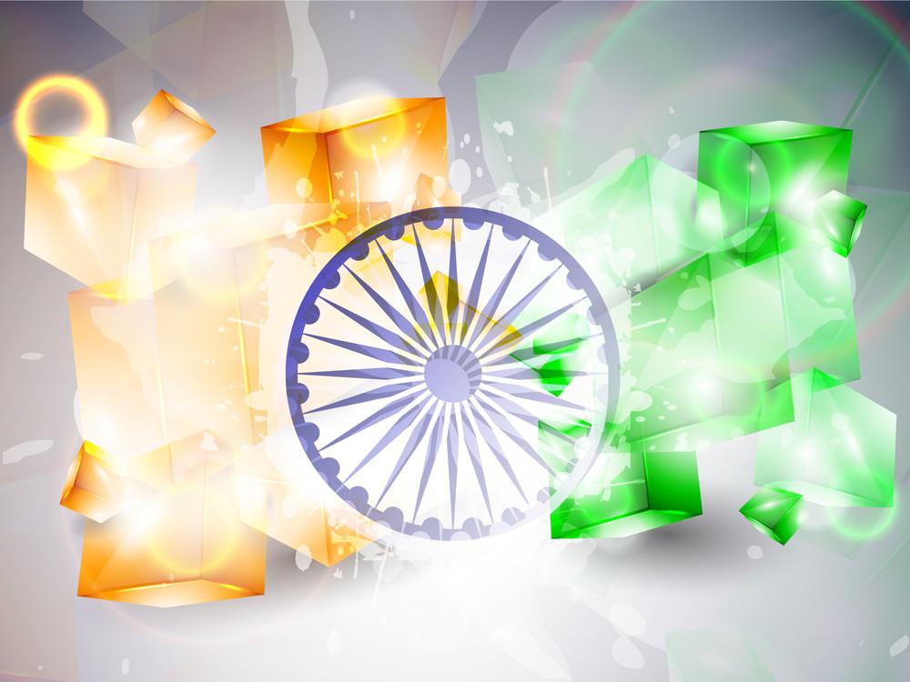 Vector Indian Flag Illustration