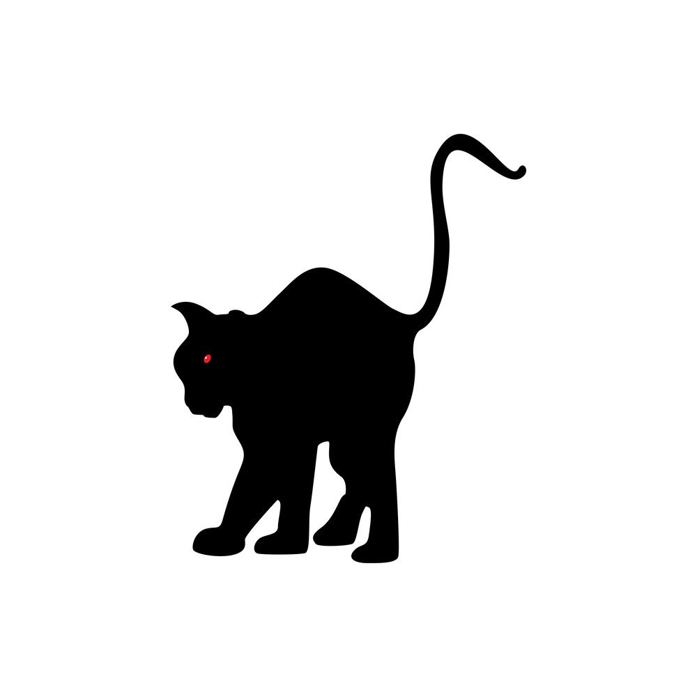 Vector Isolated Black Cat