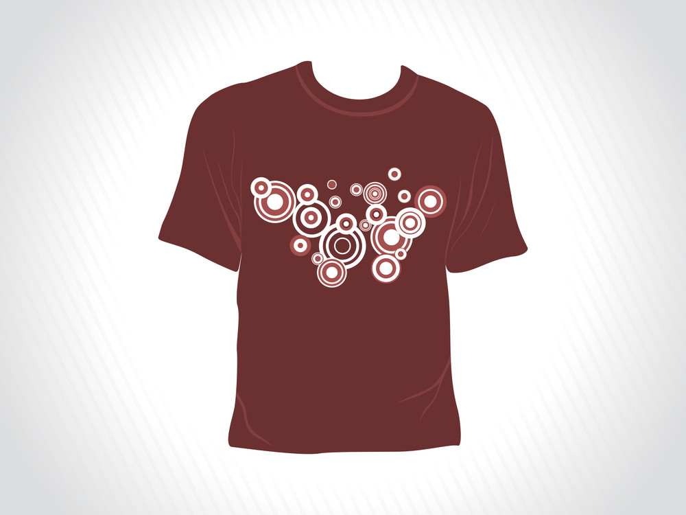Vector Isolated Brown Tshirt