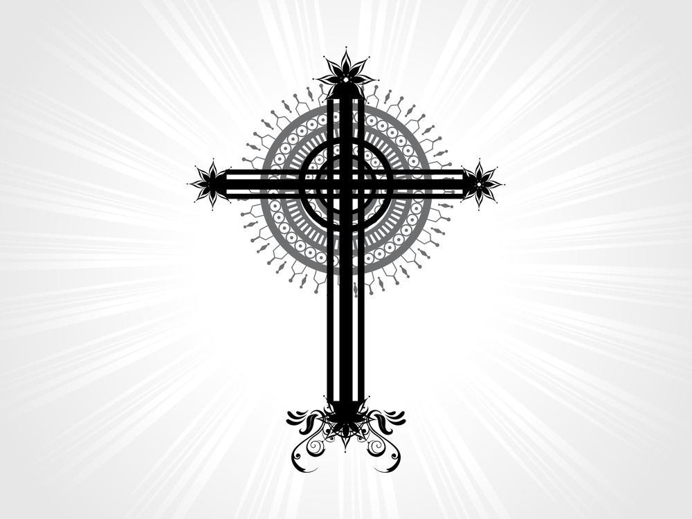 Vector Isolated Christian Cross