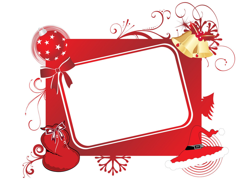 Vector Isolated Christmas Frame