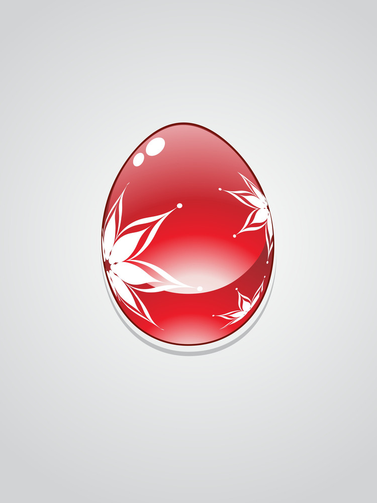 Vector Isolated Glossy Easter Egg