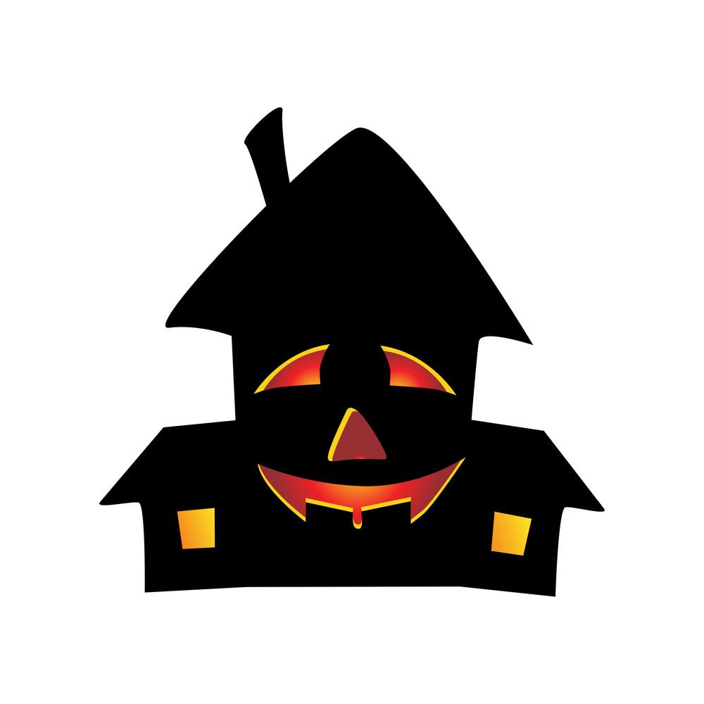 Vector Isolated Halloween House