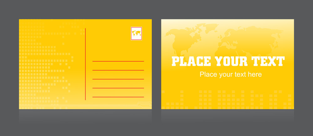 Vector Isolated Postcard