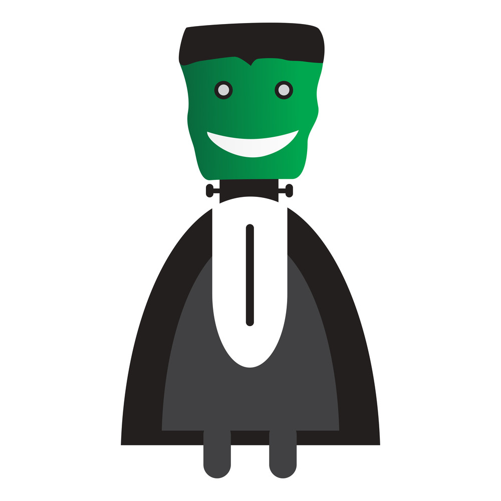 Vector Isolated Scary Halloween Witch