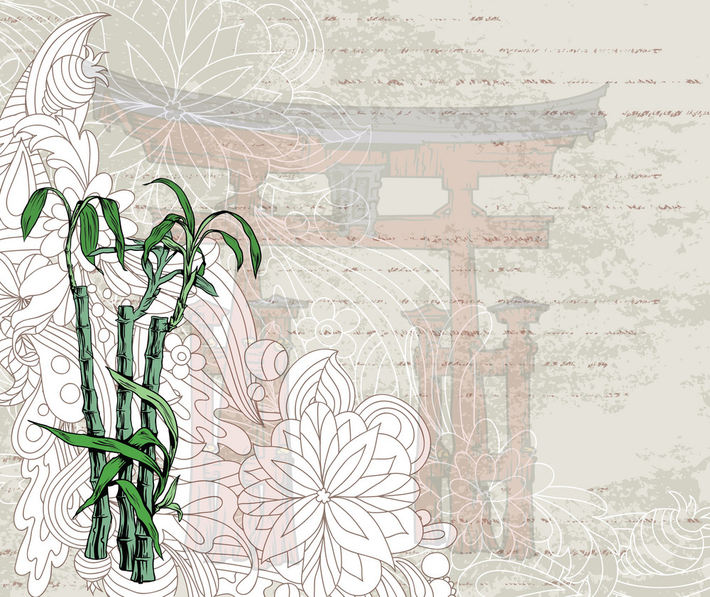 Vector Japanese Grunge Background
