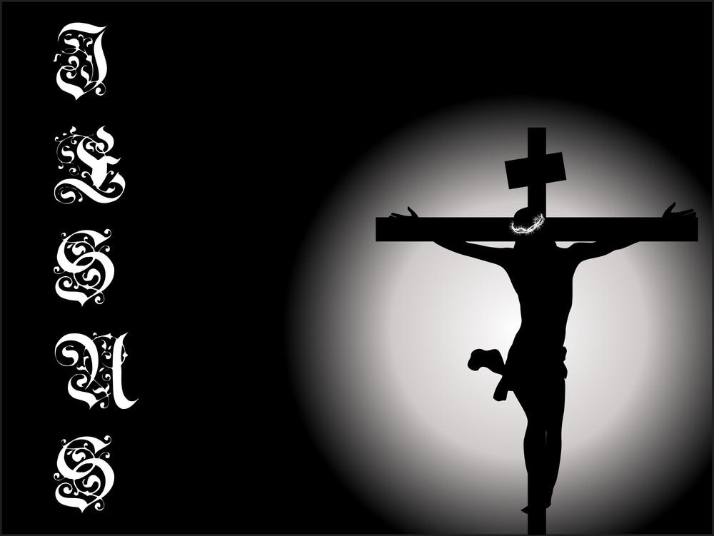 Vector Jesus On Cross