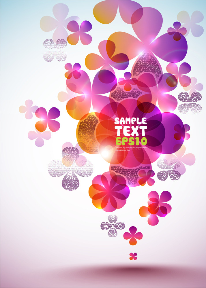 Vector Layout Design With Floral Patterns