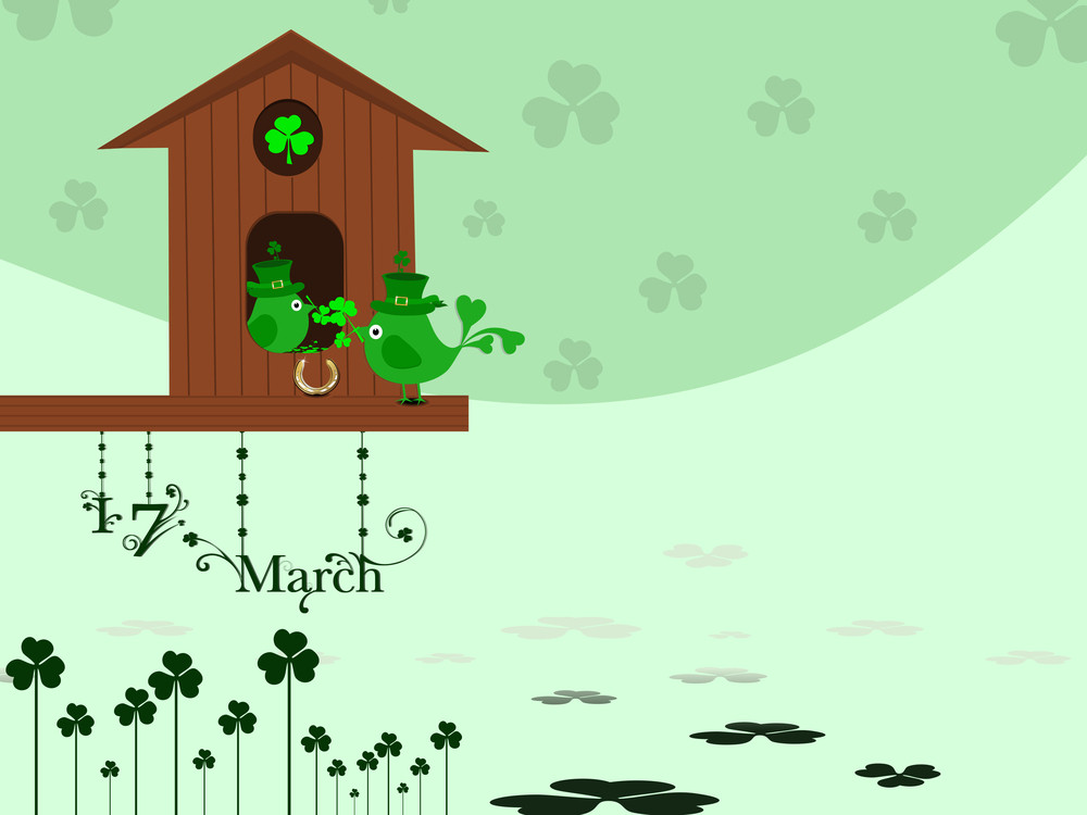 Vector Leaf Background For St. Patrick's Day.