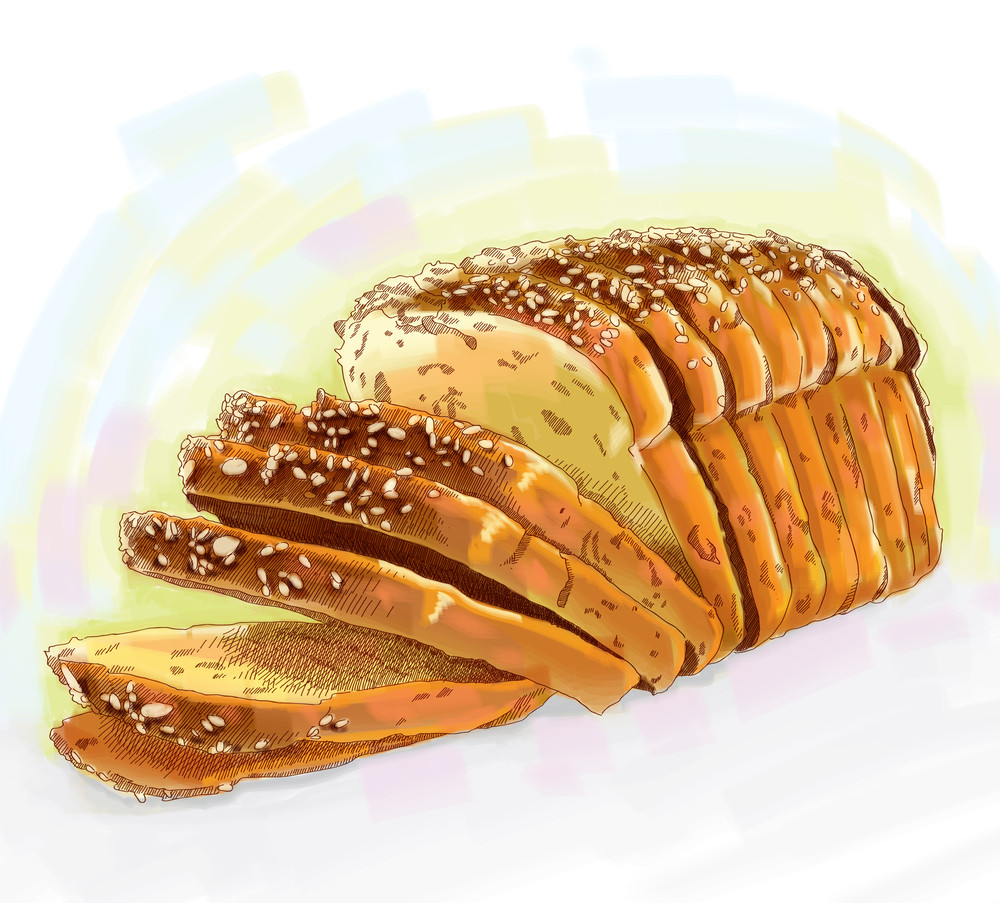 Vector Loaf Of Bread