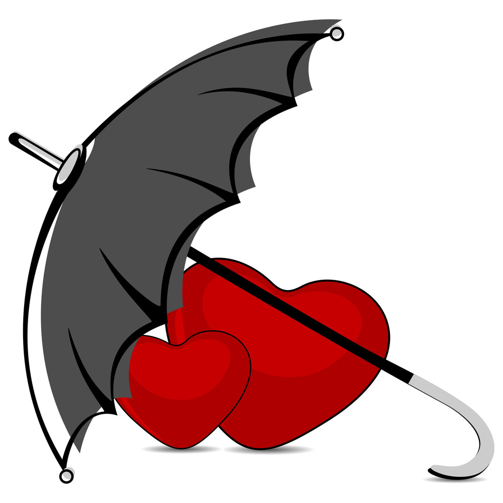 Vector Love Heart Safety Insurance Care Under The Umbrella.