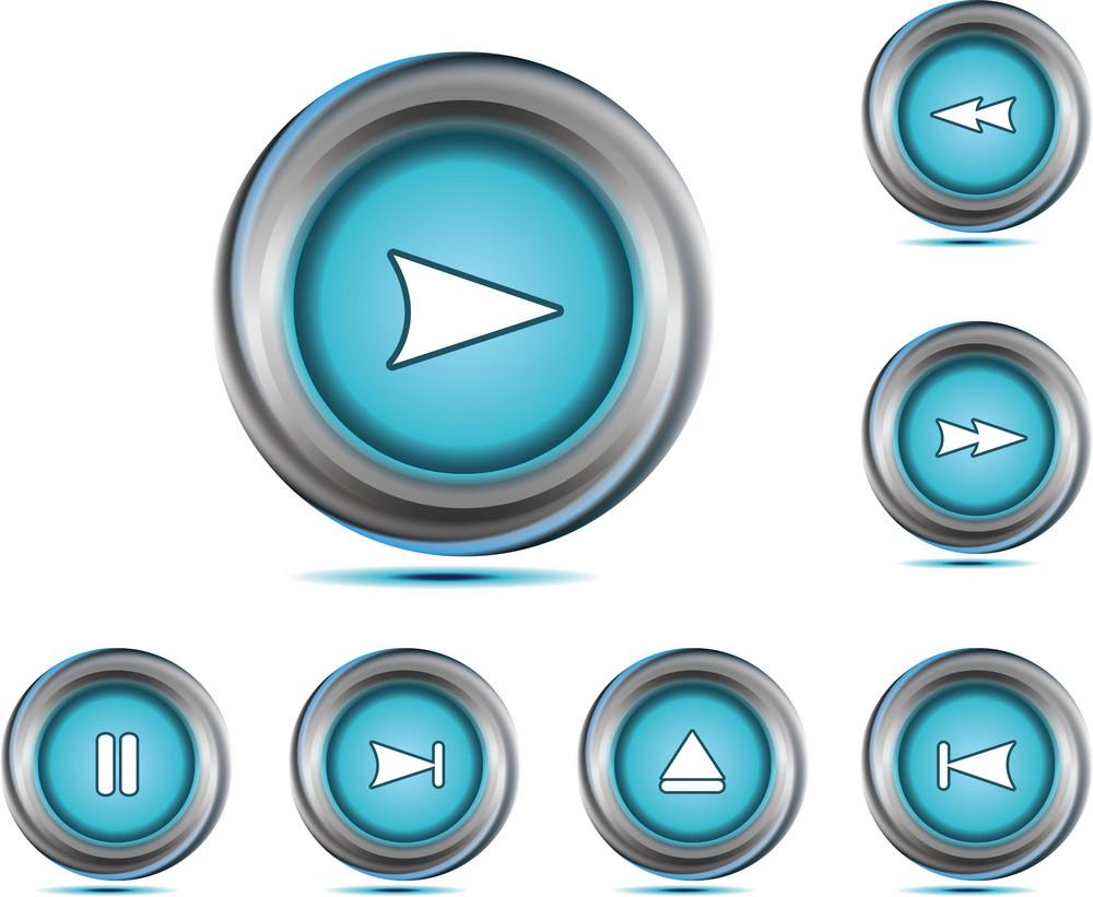 Vector Media Navigation Buttons