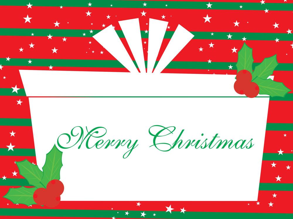 Vector Merry Xmas Background Illustration