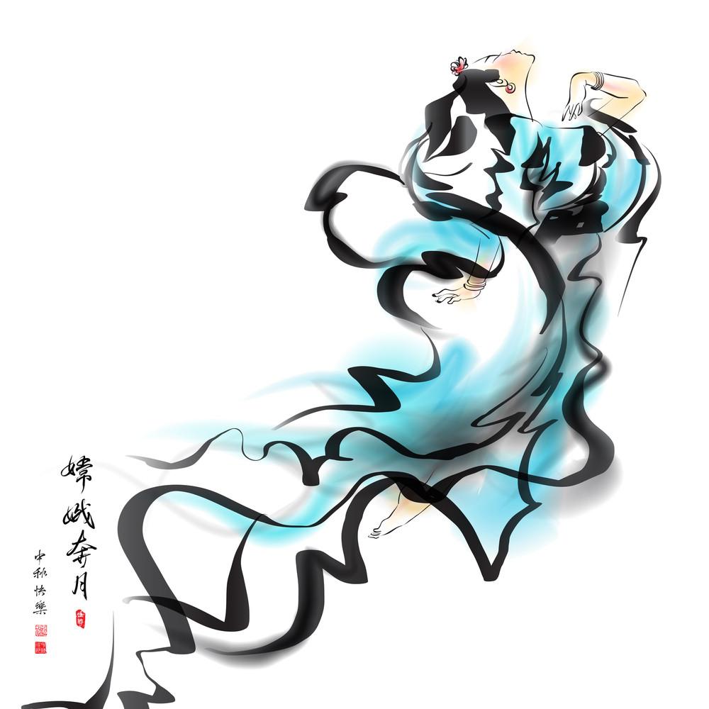 Vector Mid Autumn Festival Illustration Of Chang'e