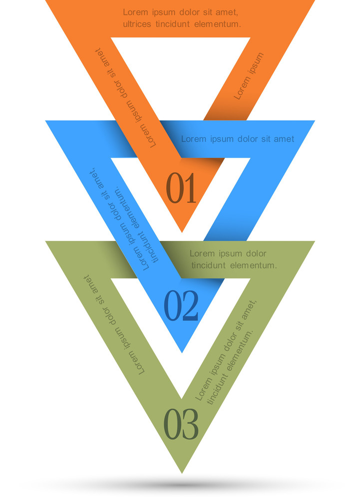 Vector Minimal Infographics Design With Triangles