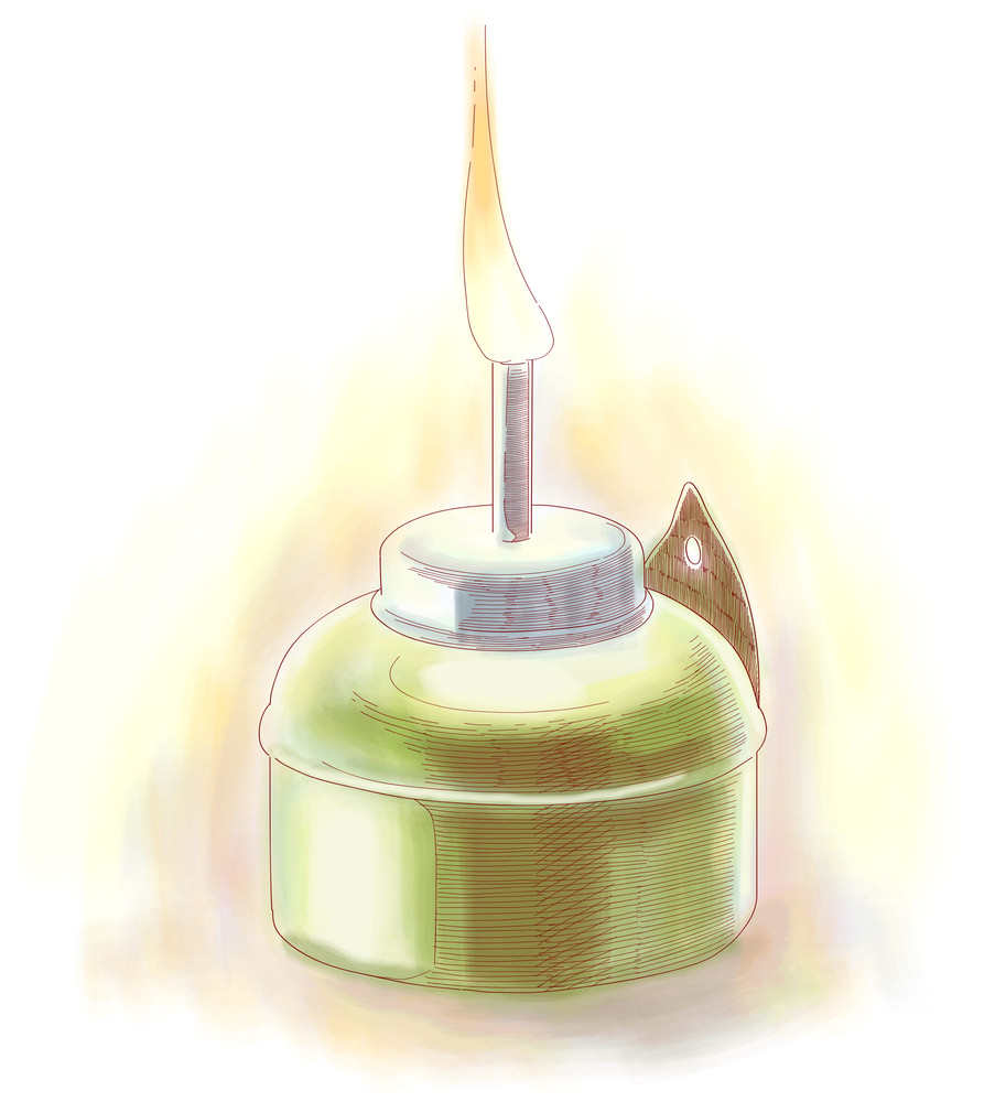 Vector Muslim Oil Lamp - Pelita