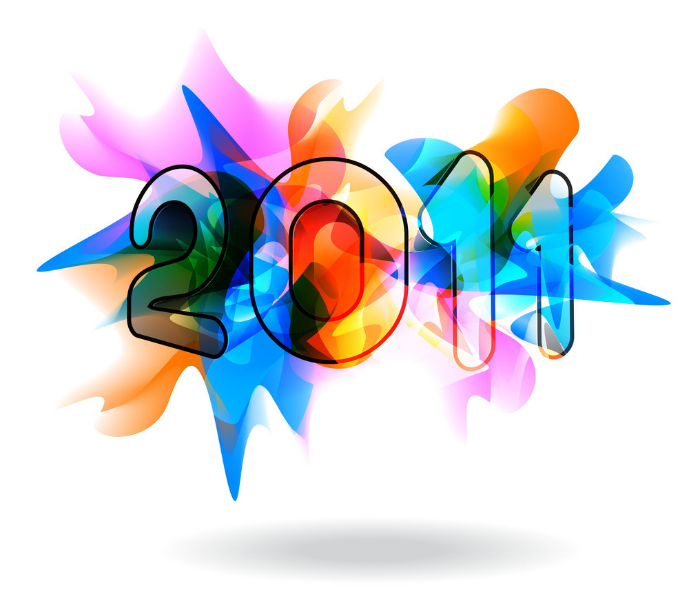 Vector New Year Colorful Background