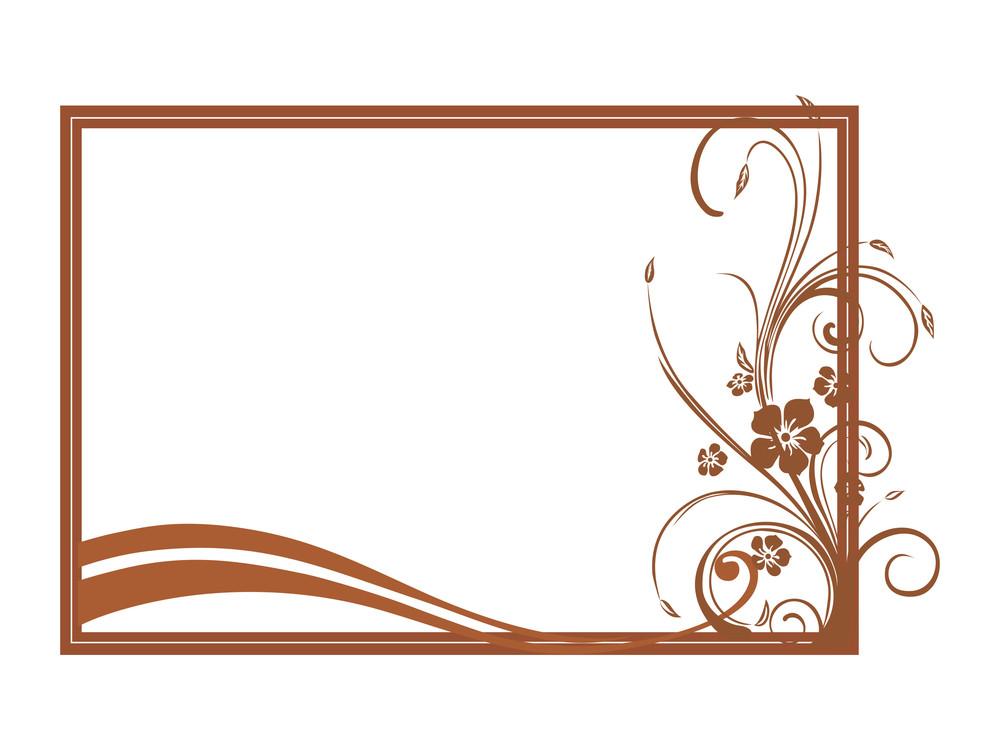 Vector Of Beautiful Brown Frame Design