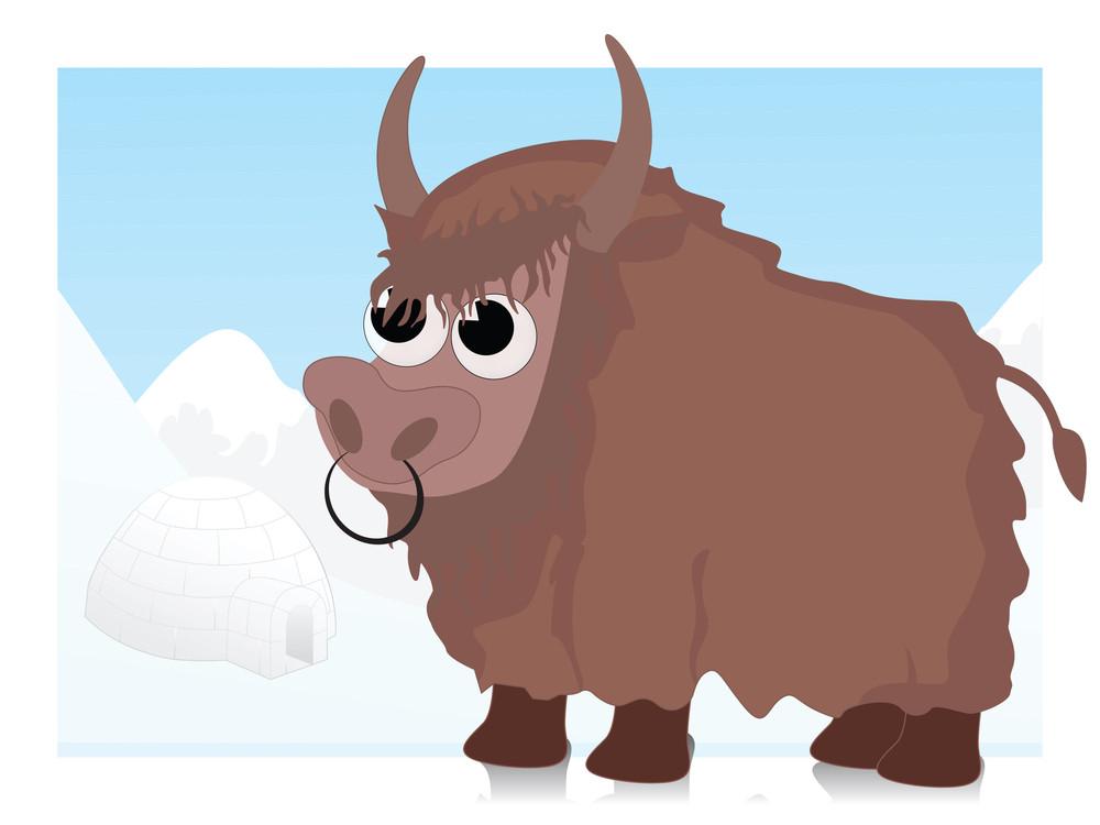 Vector Of Cartoon Bull