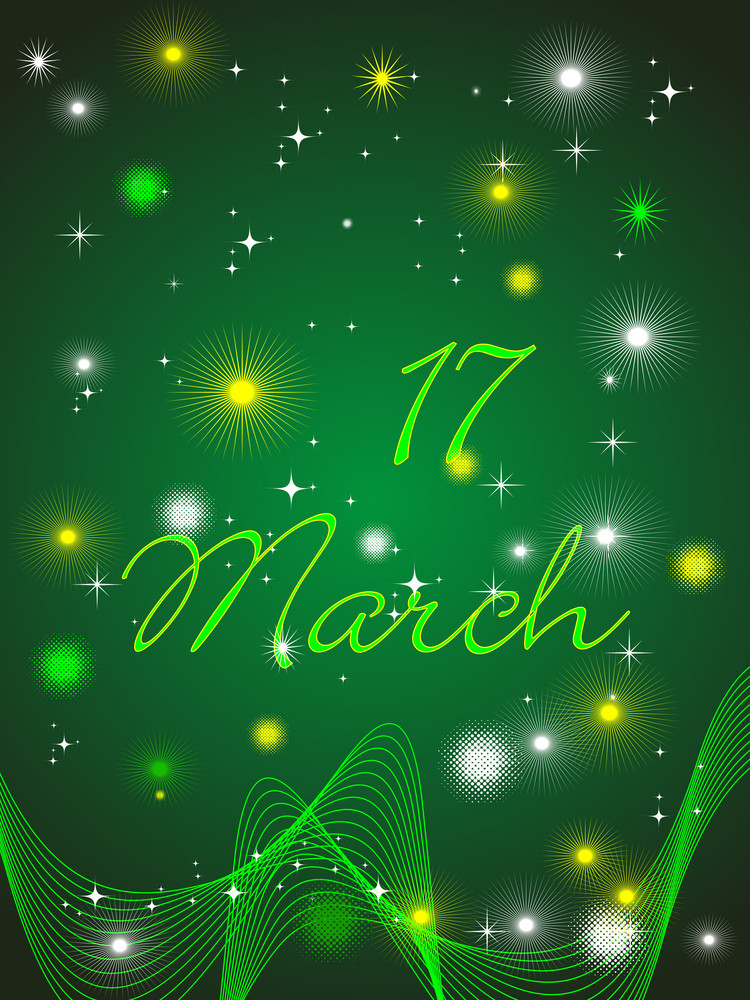 Vector Of Green Shamrocks For St. Patrick's Day.