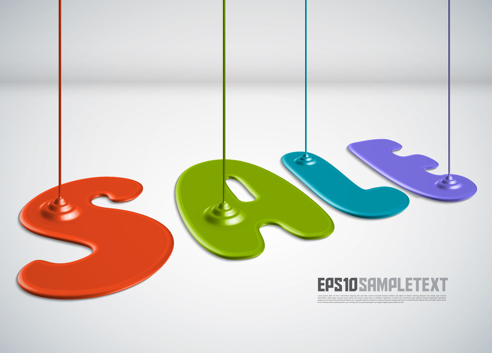 Vector Paint Dripping - Sale