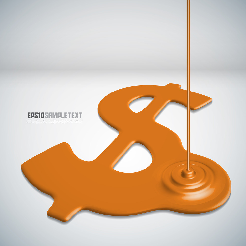 Vector Paints Dripping Money Sign