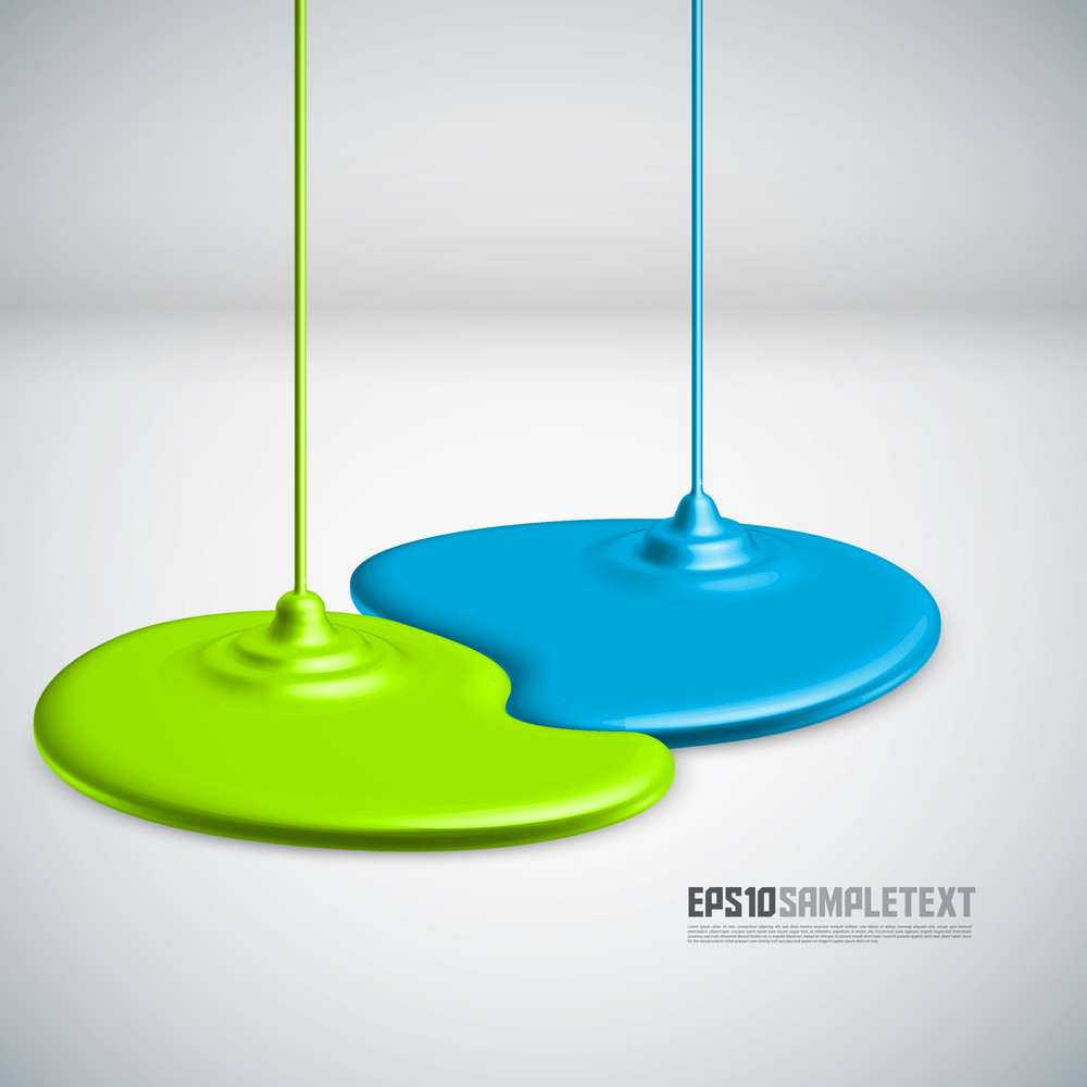 Vector Paints Dripping