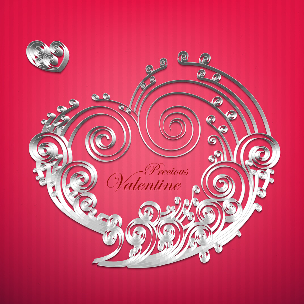 Vector Paper Crafted Love Bubble