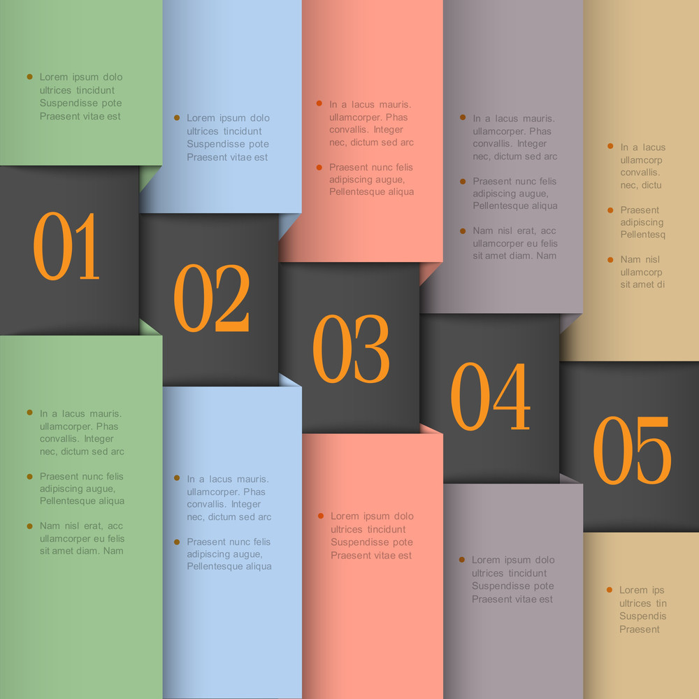 Vector Paper Numbered Banners