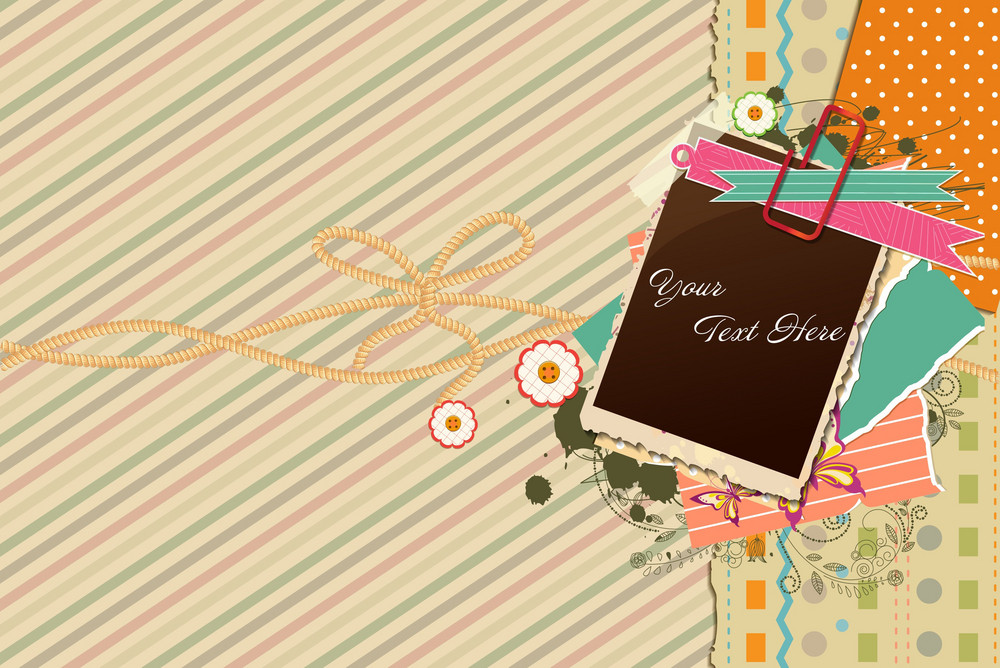 Vector Photo Frame With Grunge